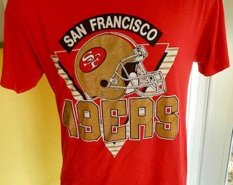 San Francisco 49ers NFL vintage 1980s tee shirt - size large