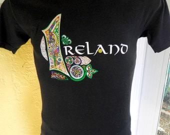 Ireland black 1980s vintage t-shirt – size medium