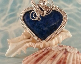 Queen of the Nile Lapis Lazuli Wire Wrap Pendant
