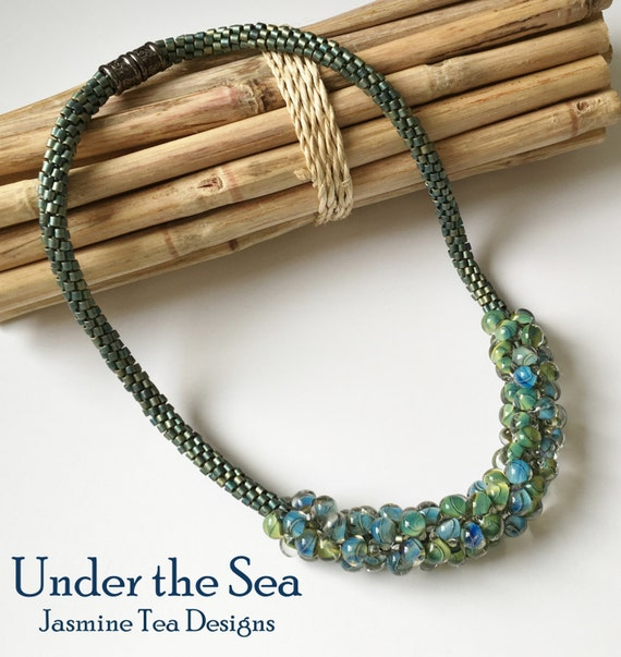 Under the Sea, A Beaded Kumihimo Necklace by Diana Miglionico-Shiraishi and Featured in August 2011 Bead Trends
