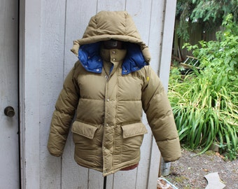 Down Jacket Coat Men's Medium First Down Hooded Puffy VINTAGE by Plantdreaming