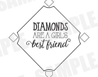 Girl Best Friends Silhouette
