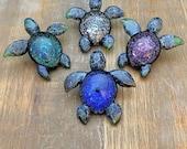 Glass Turtle Pendant Ocean Vortex Style Custom Uniquely Yours Necklace Focal Bead (TC)