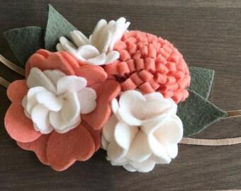 Felt Flower Headband - Matilda Jane Totally Scrumptious Dress Inspired