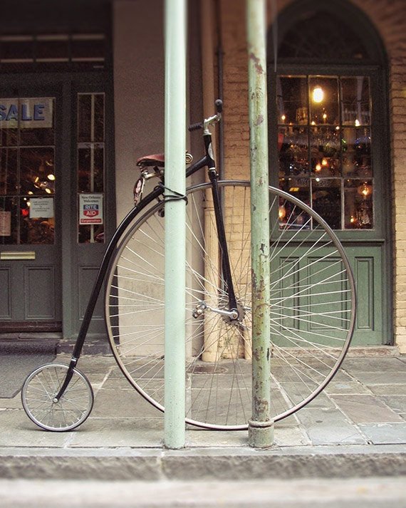 "New Orleans Photography - ""Bygone Era"" french quarter vintage bicycle photograph new orleans art louisiana mardi gras fine art print"