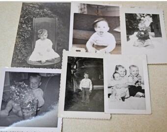 Lot of 6 Vintage Photos - Children