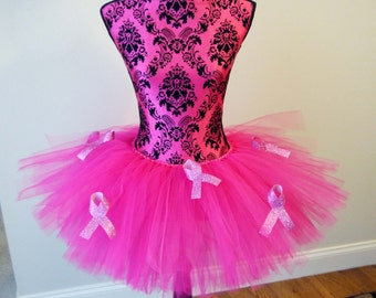 Breast Cancer Awareness Tutu, Running Tutu, Pink Tutu, Cancer Ribbon Tutu, Race Tutu, Breast Cancer Tutu, Think Pink Tutu