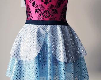 Running Skirt, Cinderella Running Skirt, Sparkle Running Skirt, 5K Skirt, Race Skirt, Princess Skirt, Blue Sparkle Skirt