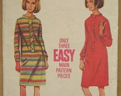 60's Dress Pattern - Butterick 4365 - Size 14 Bust 34 - Vintage Pattern - 1960s Dress Pattern - Mod Girl Dress - Easy Make Dress Pattern