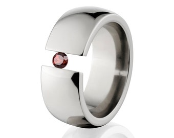 Uniquely You- Tension Set-Garnet- Ring-   8HR-P-Tension