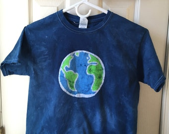 Kids Earth Day Shirt, Kids Earth Shirt, Boys Earth Day Shirt, Girls Earth Day Shirt, Batik Earth Shirt, Earth Shirt (Youth M)