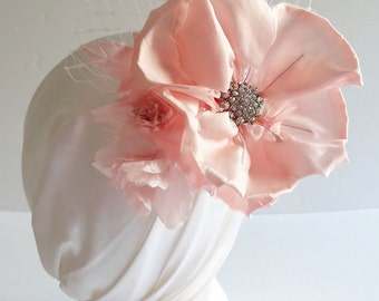 Pink Wedding Hair Flower, Bridal Hair Flower Comb, Wedding Hair Accessories