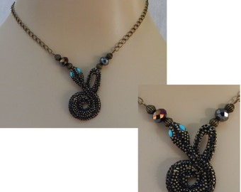 Gold Snake Pendant Necklace Jewelry Handmade NEW Chain Accessories Adjustable Blue Eyes
