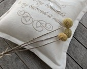 Sale: Beloved Embroidered Ring Bearer Pillow (Blush/English)