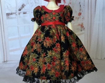 MSD BJD Autumn Leaves dress