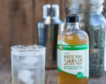 Maine White Pine Shrub no. 7 | Drinking Vinegar | Cocktail Mixer | Natural Soda | Honey