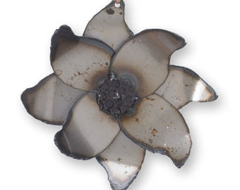Poinsettia Ornament Metal Christmas Flower Ornament Holiday