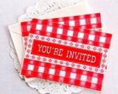 Vintage Invitation Cards / Hallmark Cards / Lot of 4 / Junk Journal / Smash Book