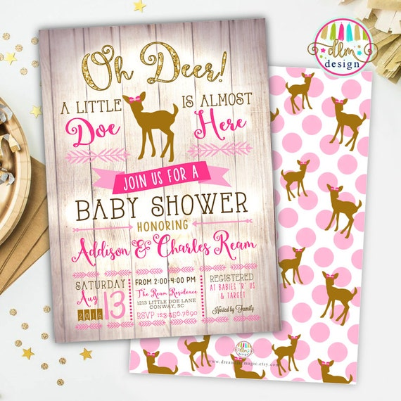 oh deer baby shower printable invite deer baby shower invite baby