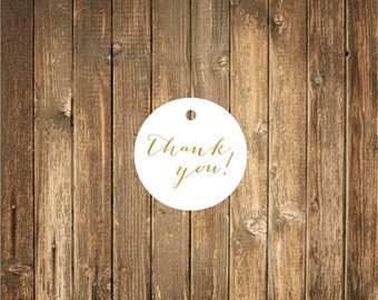 Gold Foil Printed Thank You Tags-Gold Foil Printed Favor Tags