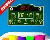 Personalized Custom Scoreboard Soccer Wall Decal Sticker Removable Wall Art Sports Score Board