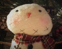 Primitive Handmade Snowman 'Farmer Pete' ~~ Primitive Home Decor ~~ Primitive Christmas ~~ Winter ~~Yule ~~ OFG Team ~~ FAAP ~~ HDM