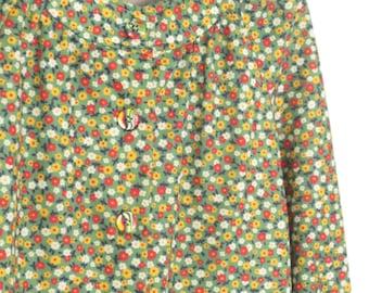 Vintage 60s Blouse * 1960s Shirt * Floral Top * Medium