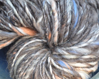 Navajo Churro, Merino & Flax hand- spun yarn. 94 yards, 5.9 oz