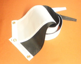 Dynamic Duo Black and White Nautical Masthead Streamers Ready to Ship