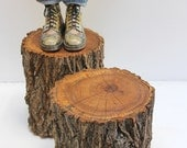 Tree Stump Side Coffee Table Casters