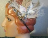 OOAK Goth Feather Hair Clip swarovki rhinestone bellydance belly dance ATS cabaret fusion flapper burlesque drag