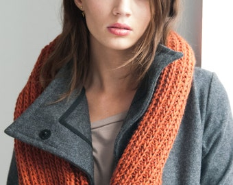 Infinity Scarf / Chunky Knit Scarf / Wool Scarf / Shawl / Loop Scarf / Stocking Stuffer / Perfect Gift / Hat / marcellamoda k - MA401