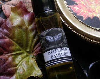 Autumn Embers Natural Perfume Fall Apothecary  Body Oil  1/3 oz Roll on Ginger Bergamot,Sage,Cassia, Clove, Orange
