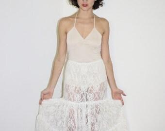 Sheer dreams lace skirt