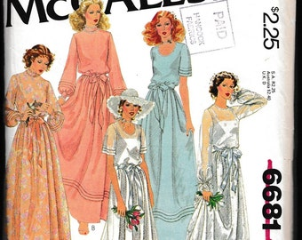 McCall's 6681 Carefree™  Patterns from McCall's Misses' Bridal and Bridesmaids Gowns