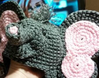 Crochet Elephant Beanie