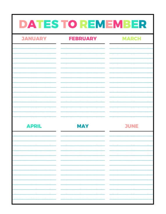 how to remember numbers and dates