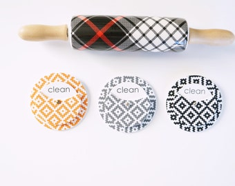 Aztec Clean Dirty Dishwasher Magnet - Aztec Home Decor for Kitchen - Dishwasher Magnet Clean Dirty - Foodie Gifts Under 20 - Chic Home Decor
