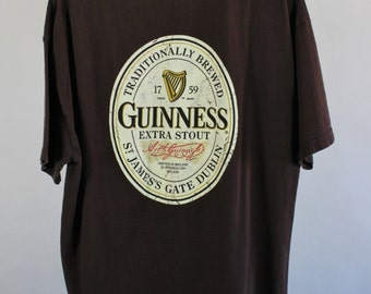 SALE - Vintage Guinness Official Tee Shirt - Mens Size Large