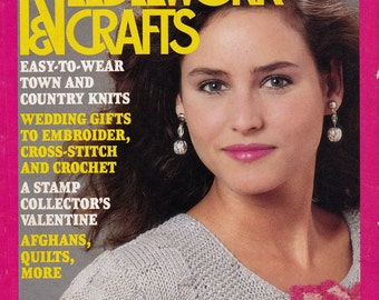 McCall's Needlework & Crafts Magazine February 1989, Bridal Special, Vintage Craft Projects, Needlework Pattern Assortment