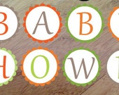 Spring Family Shower Banner, Baby Shower or Birthday Banner, Printed and assembled, Forest Animal Banner