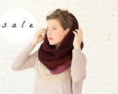 SALE | LAST ONE! | The Ombré Cowl Orchid | Chunky Scarf Knit Ombré Oversized Huge Textured Winter Cowl