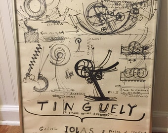 JEAN TINGUELY MODERNISM Poster, Mid Century, Abstract, 1967, Framed, Industrial Decor, Modern Art, Tinguely, Mid Century at Modern Logic
