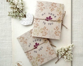 Rustic Vow Books.  My vows to you wedding vow books. Wedding ceremony. VB455