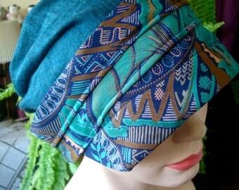 Womens hat soft Cloche beanie merino chemo hat green cute hat winter