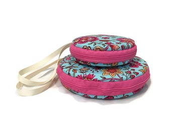 Psychedelic Floral Macaron Wristlet Large or Small Clutch Wallet - The Gia