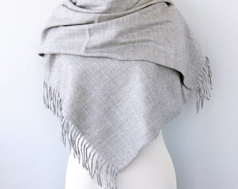 Blanket scarf Oversized wrap Unisex scarf Large man scarf Men's autumn fall scarf Gift for him Winter Men accessories Silver grey gray
