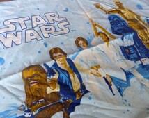 Vintage Star Wars Linens // 1970s Star Wars Pillowcase