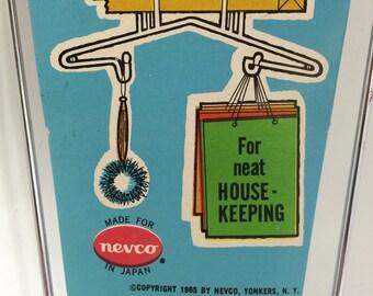Vintage Storage / Organizer - Paper Bag Storage Rack by Nevco 1965