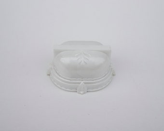Vintage SUC Ring Box Celluloid White Presentation Box Made in USA Pearly Finish